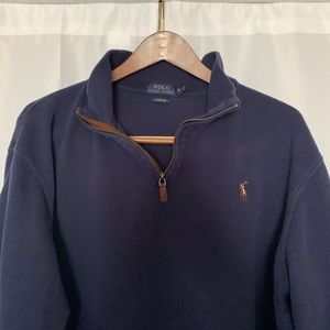 POLO RL Men's XXL Navy Quarter-Zip Pullover
